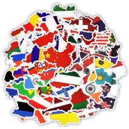 Наклейки стикеры National Flags (50 шт. винил, размер 50-100 мм. Mix)
