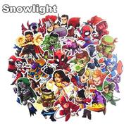 Наклейки стикеры Супергерои Marvel, DC (винил 50 шт. размер 60-90 мм., Mix)