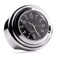 Часы на руль (корпус сталь хром, черный циферблат, влагозащита)