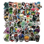 Наклейки стикеры Horror Skull (50 шт. винил, размер 50-75 мм. Mix)