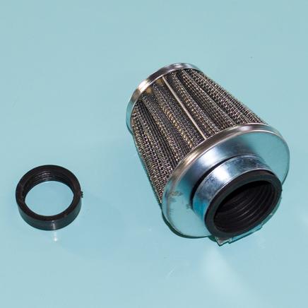 Фильтр 0 нулевого сопротивления d28-35 мм. Dio, К60В (конус высокий h67 х D73 мм., переходник)
