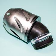 Фильтр 0 нулевого сопротивления d42 мм. (ракета, высота 135 мм., серебряный корпус) УЦЕНКА