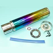 Глушитель прямоточный (420 x 100 мм., ТУРБИНА N7 РАДУЖНЫЙ, переходник D100 мм.)