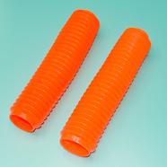 Гофра вилки кроссовые мото (оранжевые 2 шт., 320 x d42 и d56 мм.)