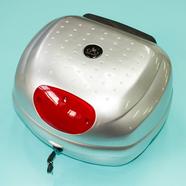Кофр багажный для мопеда, скутера ZH-518 (серебро с круглым отражателем, 350 x 380 x 280)