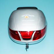 Кофр багажный для мопеда, скутера ZH-518C (серебро с плоским отражателем, 420 x 390 x 290)