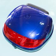 Кофр багажный для мопеда, скутера ZH-518C (синий с плоским отражателем, 420 x 390 x 290)