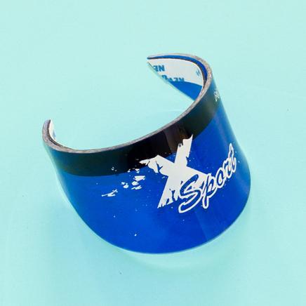 Козырек поворота (округлый 70 x 57 мм., синий)