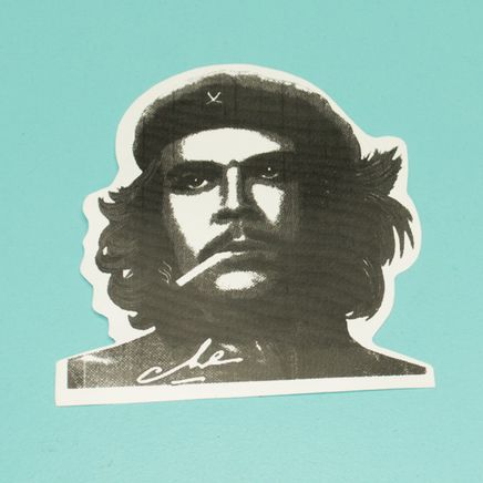 Наклейка Че Гевара (черно-белая, 98 x 104 мм.)