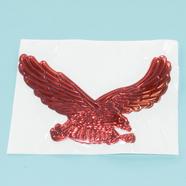 Наклейка ОРЁЛ (красный, 3D гибкая, 110 x 75 мм.)