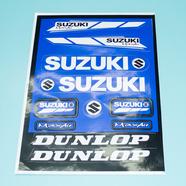 Наклейки СУЗУКИ DUNLOP (винил, синие, 220 х 330 мм., 11 шт.)