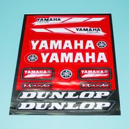 Наклейки Ямаха DUNLOP (винил. 220 х 330 мм., 11 наклеек)