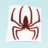 Наклейка паук (красный, 3D гибкая, 90 x 75 мм.)