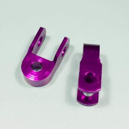 Проставка амортизатора низкая (2 шт., высота по осям 30 мм., d10 мм., фиолетовые)