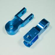 Проставка амортизатора высокая (2 шт., высота по осям 50 мм., d10 мм., синие)