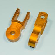 Проставка амортизатора высокая (2 шт., высота по осям 50 мм., d10 мм., золото)