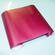 Пленка виниловая (БОРДОВЫЙ карбон 3D, отрезок 1270 x 300 мм.)