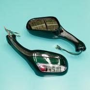 Зеркала 070/020 (пластиковые, зеленые с поворотами, круглые клеммы, М8 x 130 x 75 мм.)