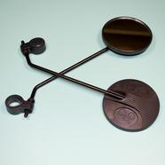 Зеркала вело 111 (пластиковые черные с хомутом, М6 x 100 x 85 мм.)