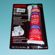 Герметик силиконовый ABRO (красный, 85 грамм)