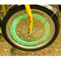 Фонарь на спицы вело YY-601 (зеленый свет, 3 режима, силиконовый)