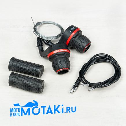 Рычаги переключения вело (монетки шифтеры 3/7 скоростей, резинки, тросы) H-128