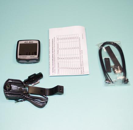 Велокомпьютер AS-880 (11 функций в описании, без батарейки)