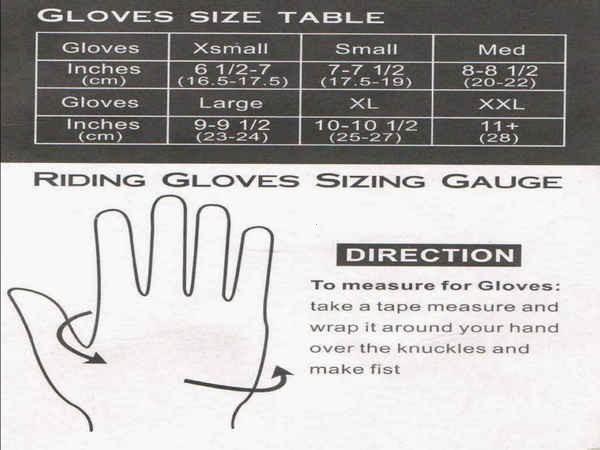 Размеры перчаток Pro-biker