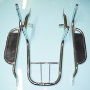 Багажник Альфа (задний, верх с подножками пассажира, хром) ОБЛЕГЧЕННЫЙ