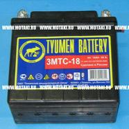 Аккумулятор 6В 18Ач 90А 3МТС-18 (140 x 77 x 135, Тюмень)