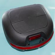 Кофр багажный для мопеда, скутера ZH-169A (черный с красной ручкой, 420 x 370 x 290)