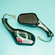 Зеркала 070/020 (пластиковые, зеленые с поворотами, плоские клеммы, М8 x 130 x 75 мм.)
